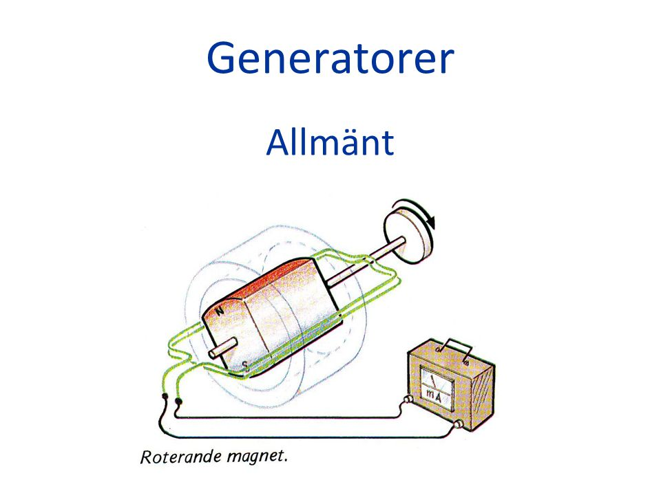 Generatorer Allmänt
