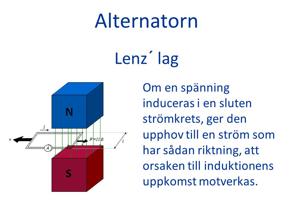 Alternatorn Lenz´ lag