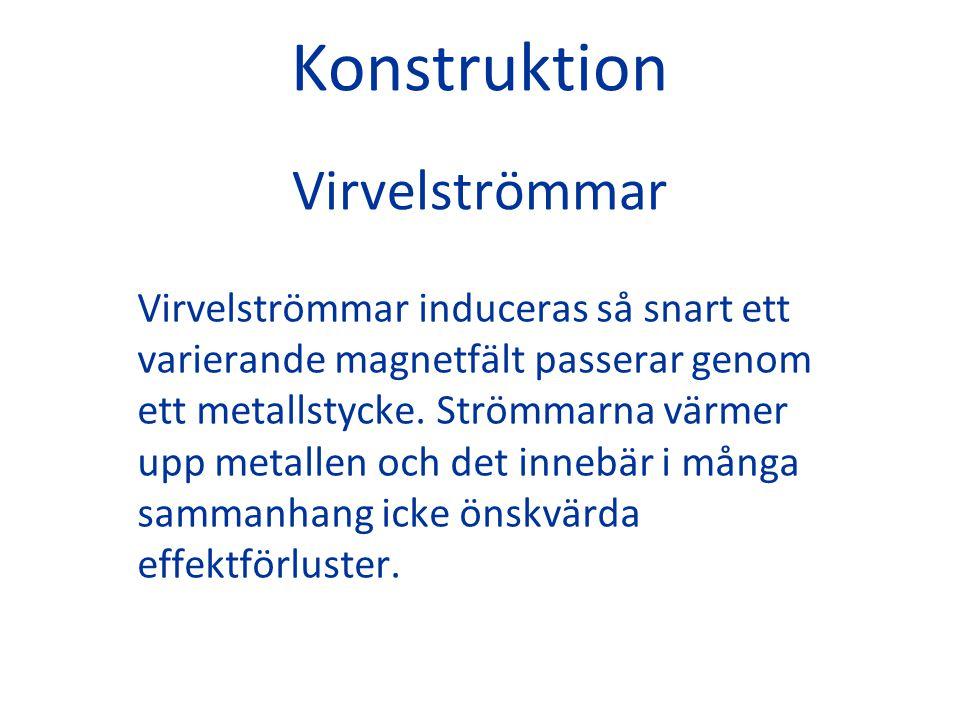 Konstruktion Virvelströmmar