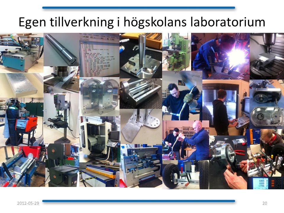 Egen tillverkning i högskolans laboratorium