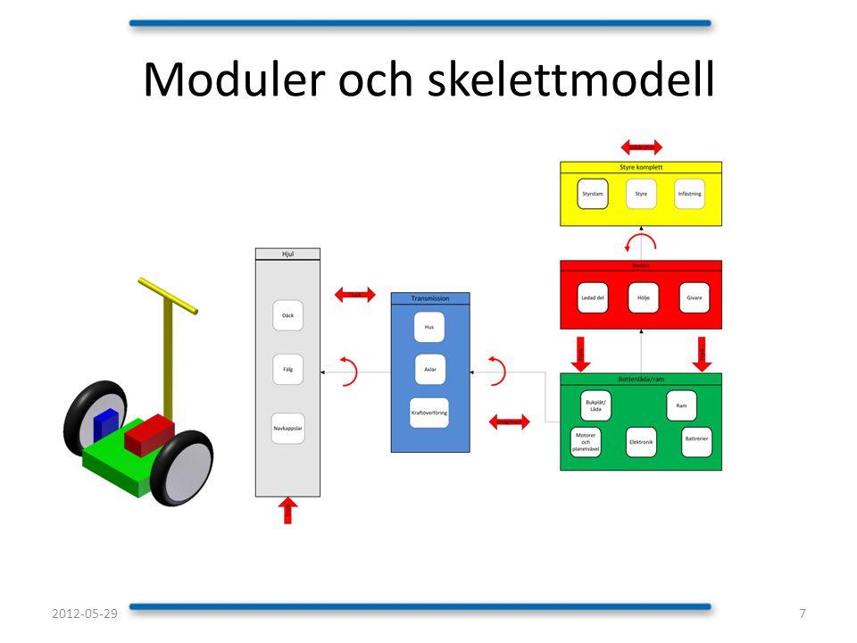 Moduler och skelettmodell