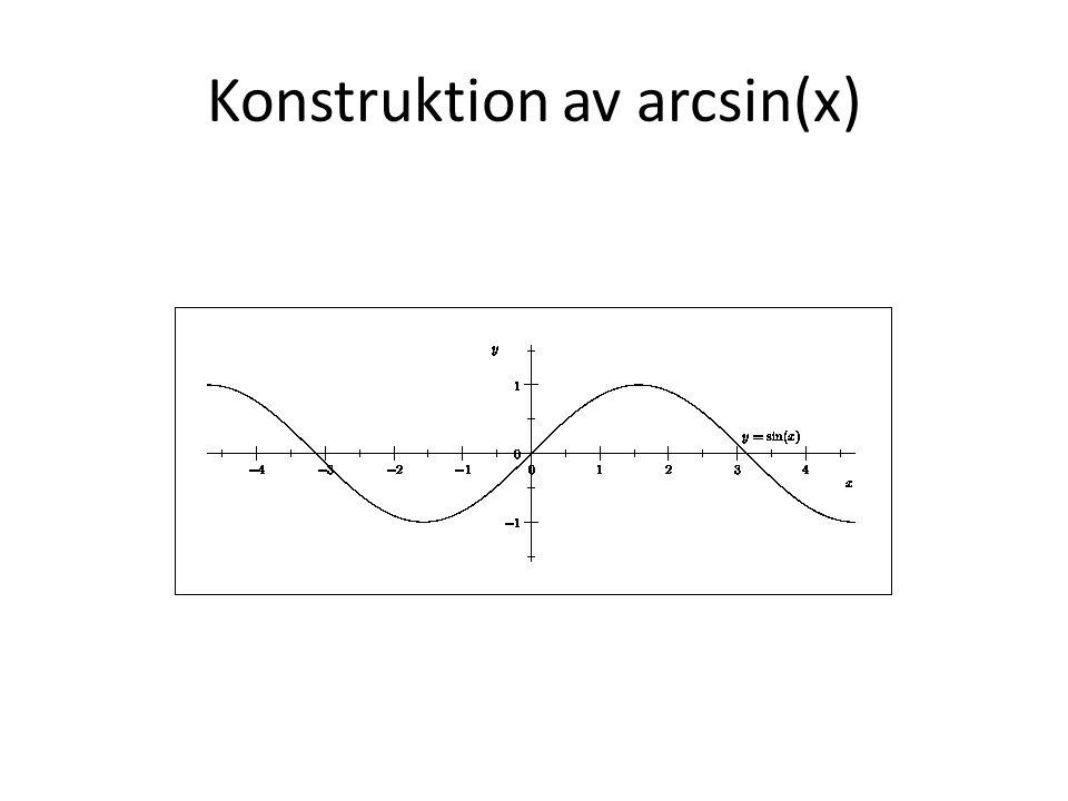 Konstruktion av arcsin(x)