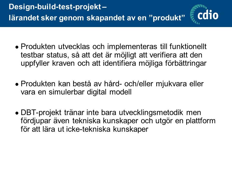 Design-build-test-projekt – lärandet sker genom skapandet av en produkt