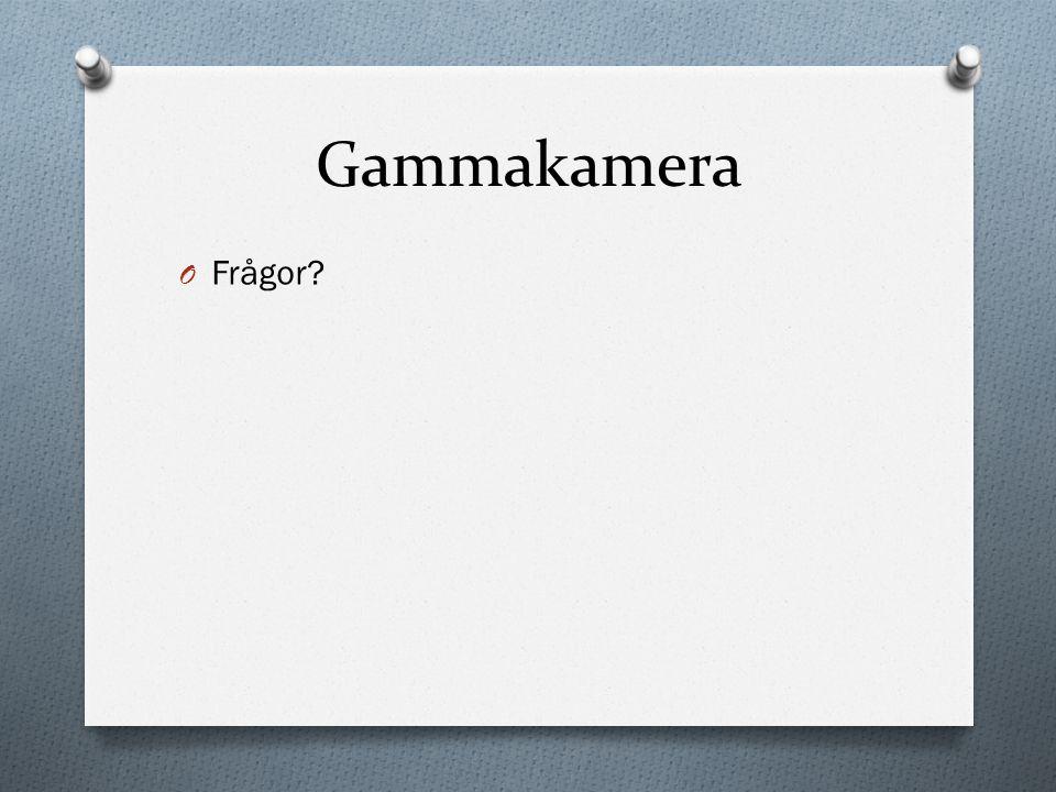 Gammakamera Frågor