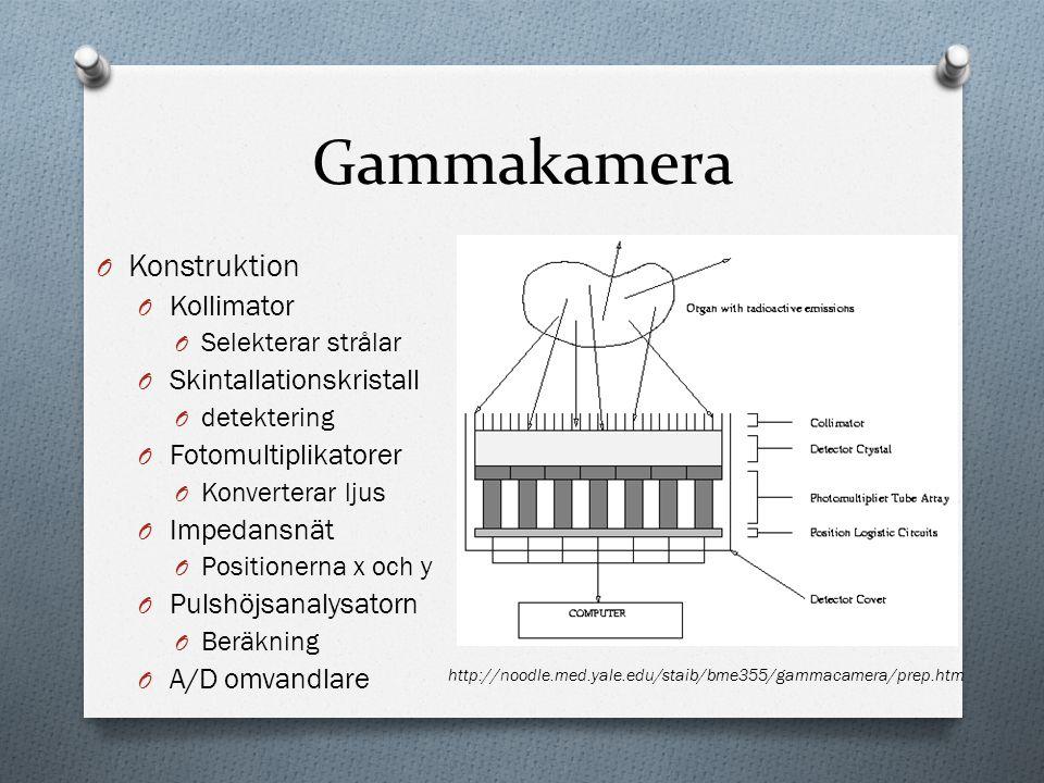 Gammakamera Konstruktion Kollimator Skintallationskristall