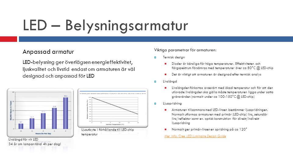 LED – Belysningsarmatur
