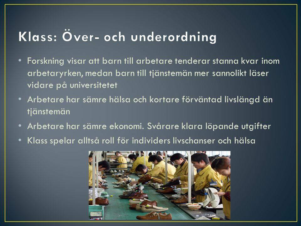 Klass: Över- och underordning