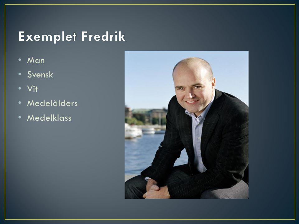 Exemplet Fredrik Man Svensk Vit Medelålders Medelklass