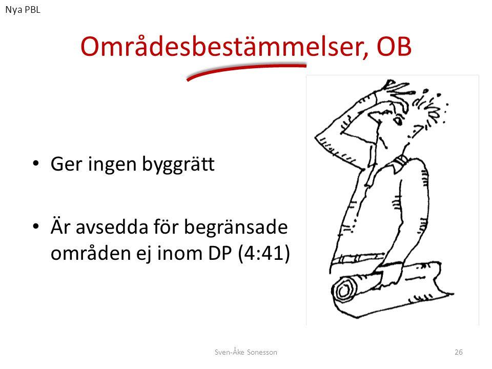 Områdesbestämmelser, OB