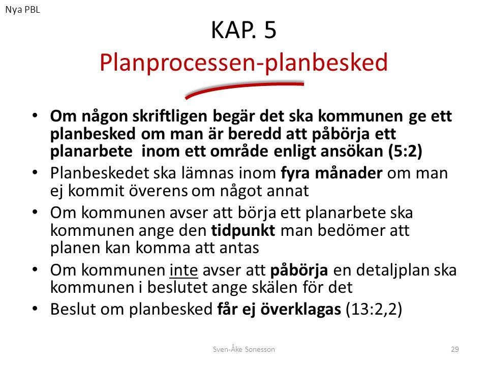 KAP. 5 Planprocessen-planbesked