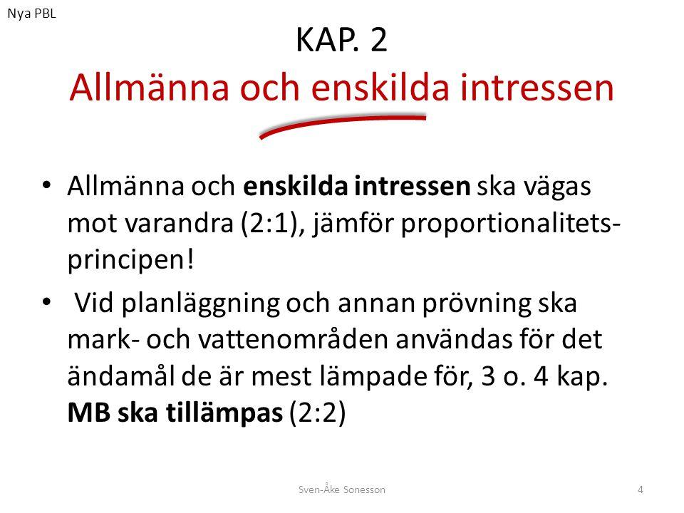 KAP. 2 Allmänna och enskilda intressen