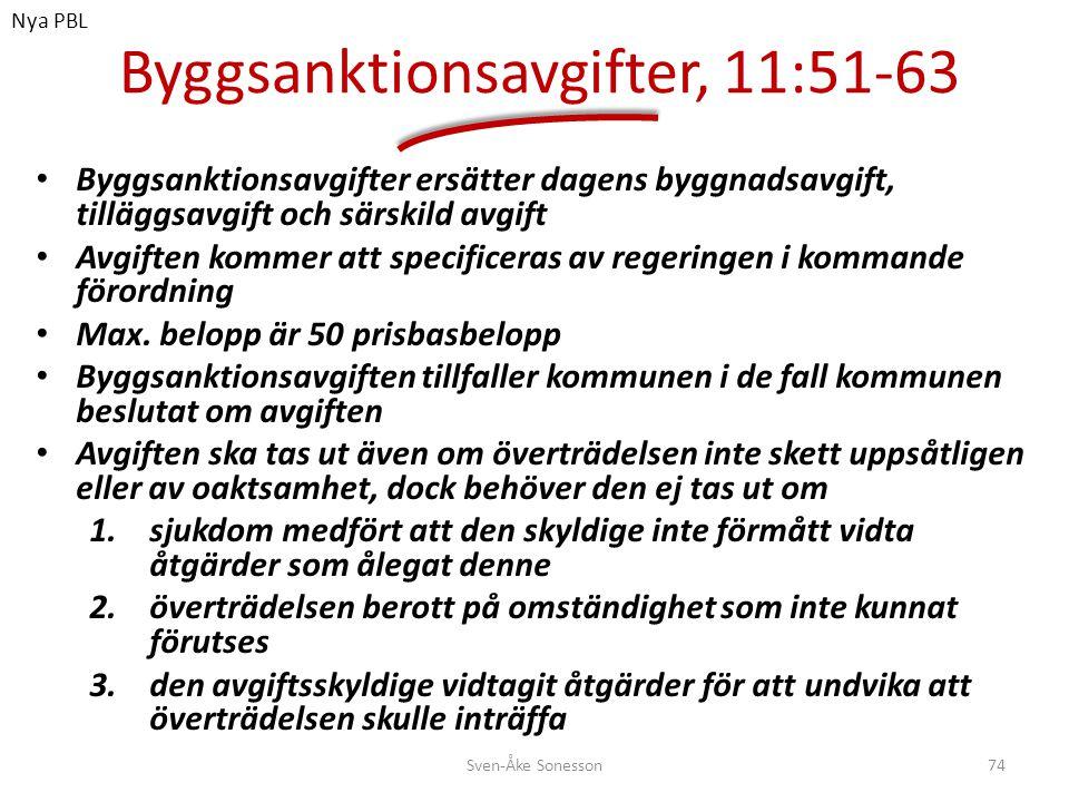 Byggsanktionsavgifter, 11:51-63