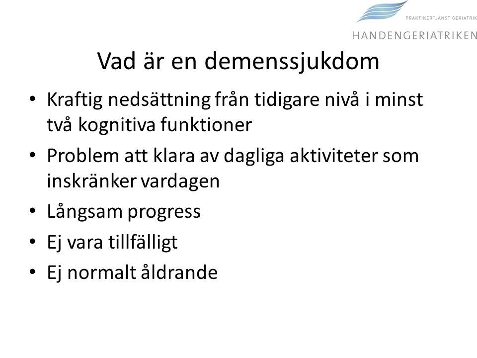 Vad är en demenssjukdom