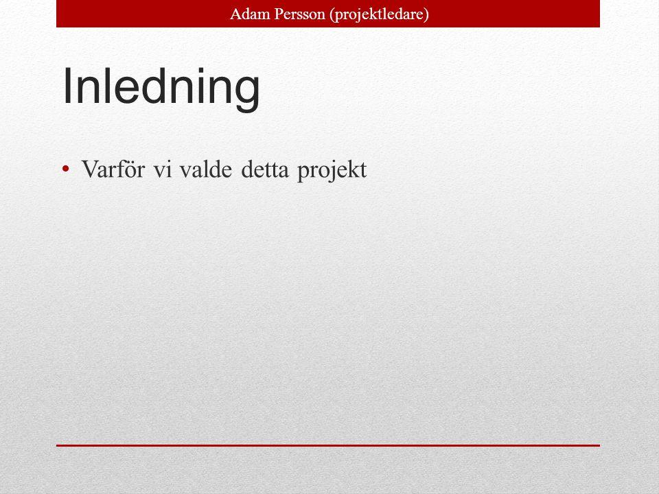 Adam Persson (projektledare)