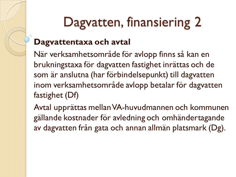 Dagvatten, finansiering 2