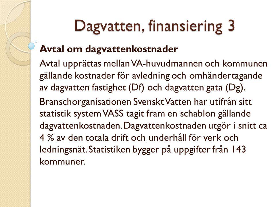Dagvatten, finansiering 3