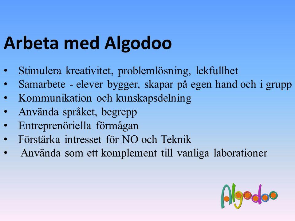 Arbeta med Algodoo Stimulera kreativitet, problemlösning, lekfullhet