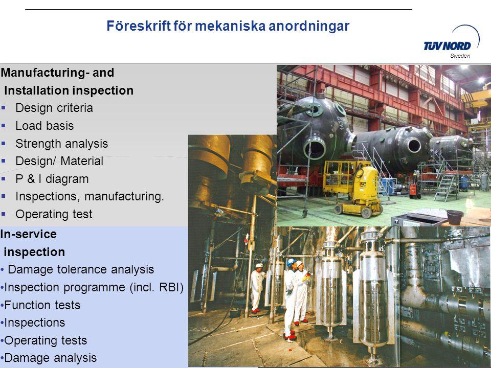 Föreskrift för mekaniska anordningar