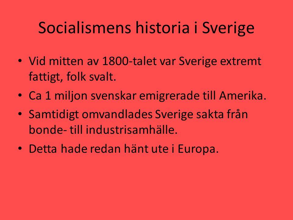Socialismens historia i Sverige