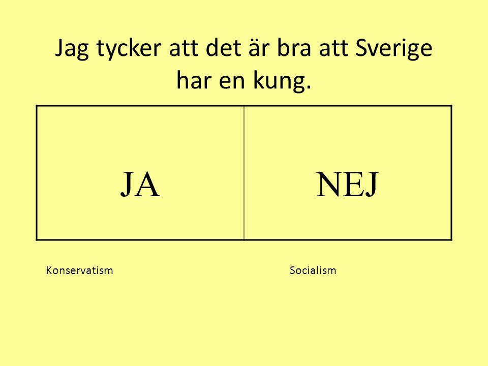 Jag tycker att det är bra att Sverige har en kung.