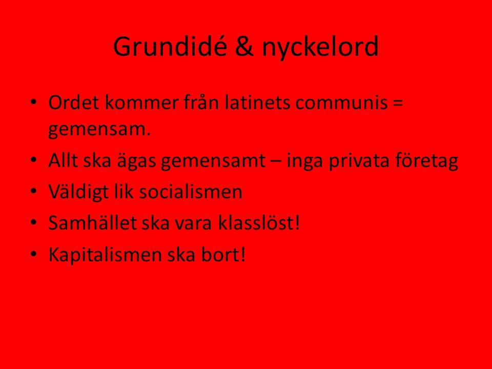 Grundidé & nyckelord Ordet kommer från latinets communis = gemensam.