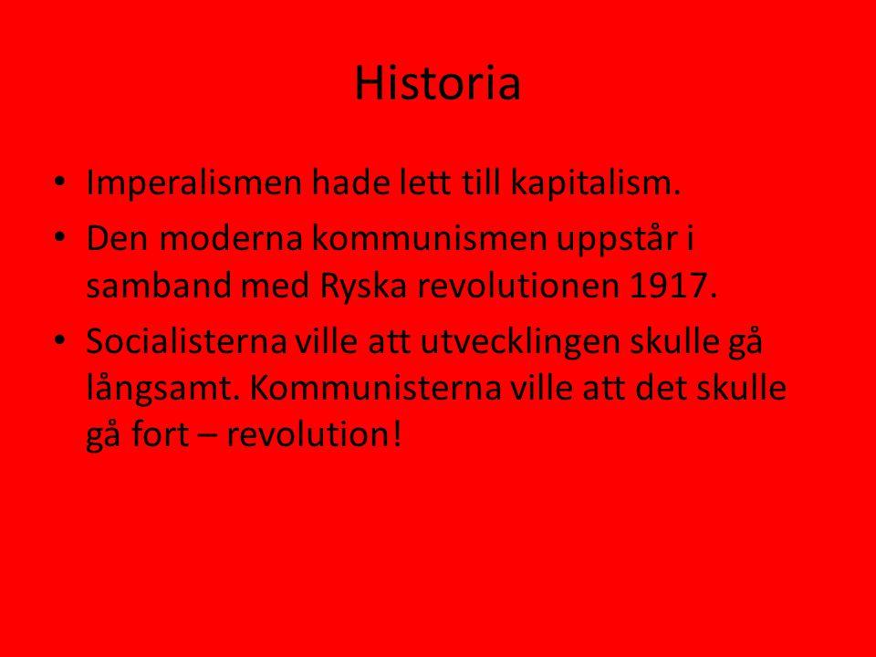 Historia Imperalismen hade lett till kapitalism.