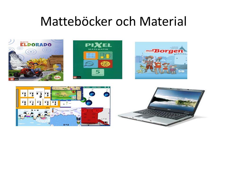Matteböcker och Material
