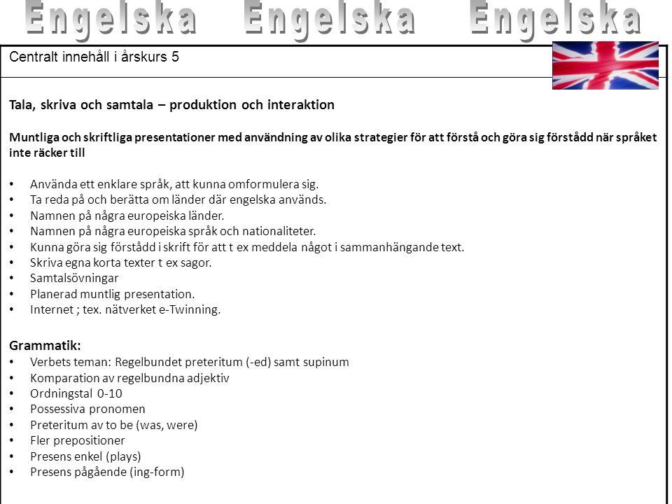 Engelska Engelska Engelska