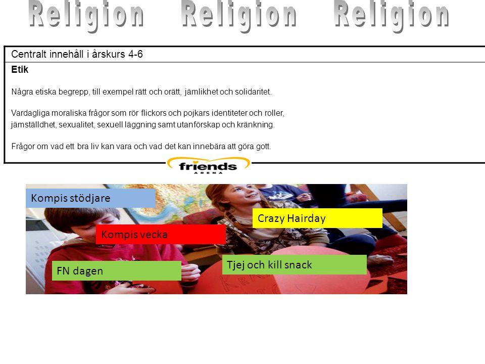 Religion Religion Religion Kompis stödjare Crazy Hairday Kompis vecka