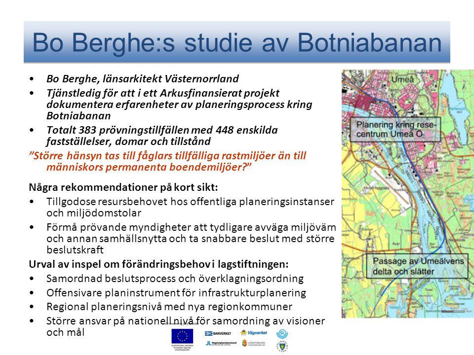 Bo Berghe:s studie av Botniabanan