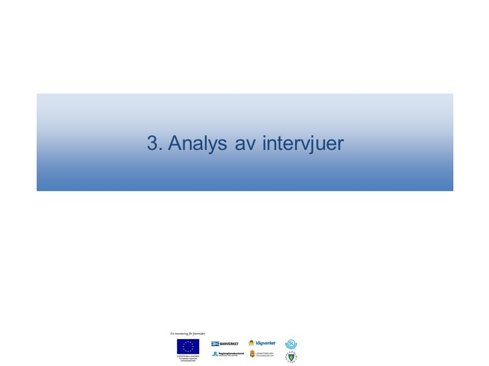 3. Analys av intervjuer
