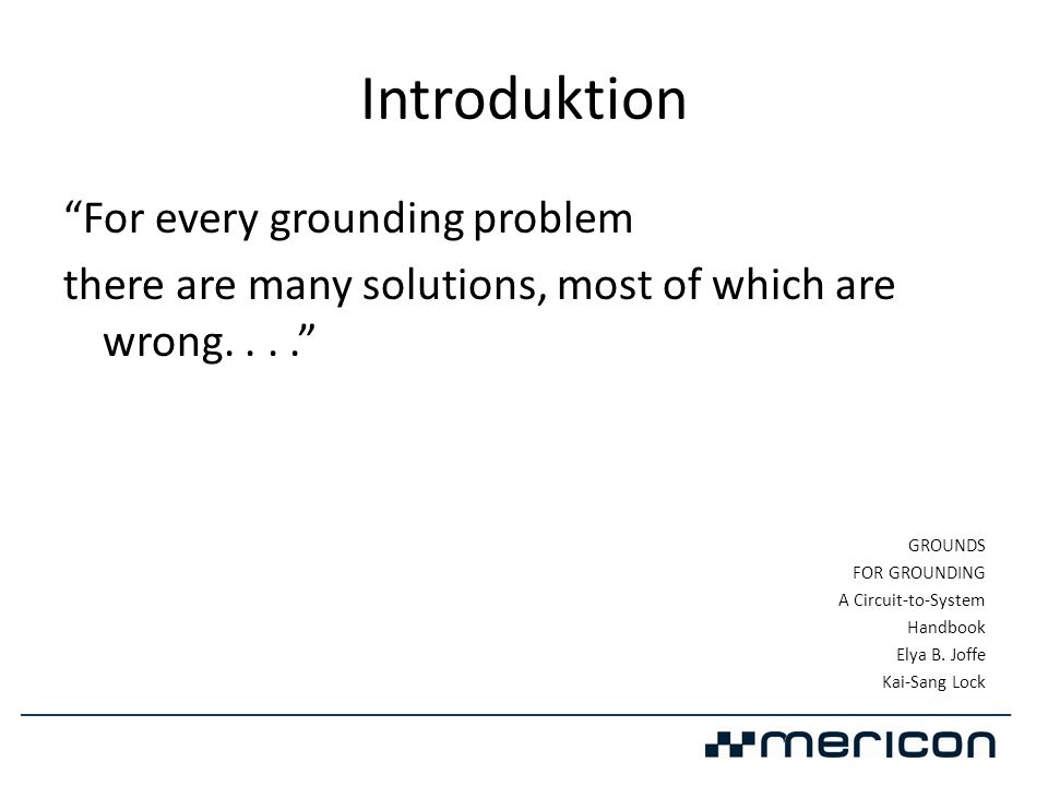 Introduktion For every grounding problem