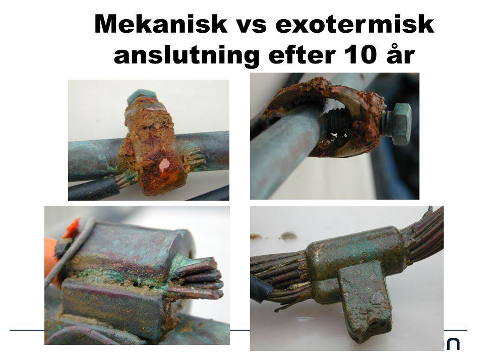 Mekanisk vs exotermisk anslutning efter 10 år