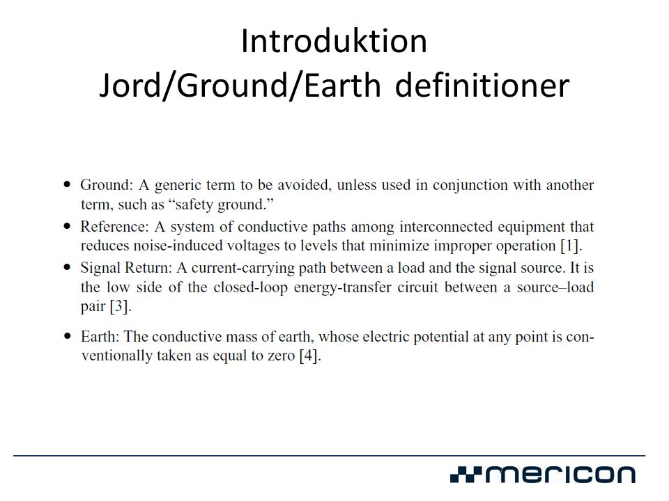 Introduktion Jord/Ground/Earth definitioner