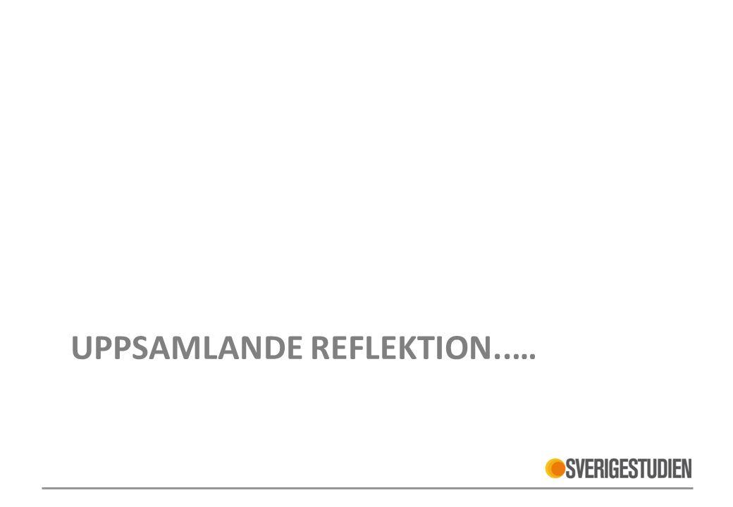 Uppsamlande reflektion..…