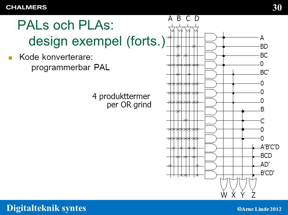 PALs och PLAs: design exempel (forts.)
