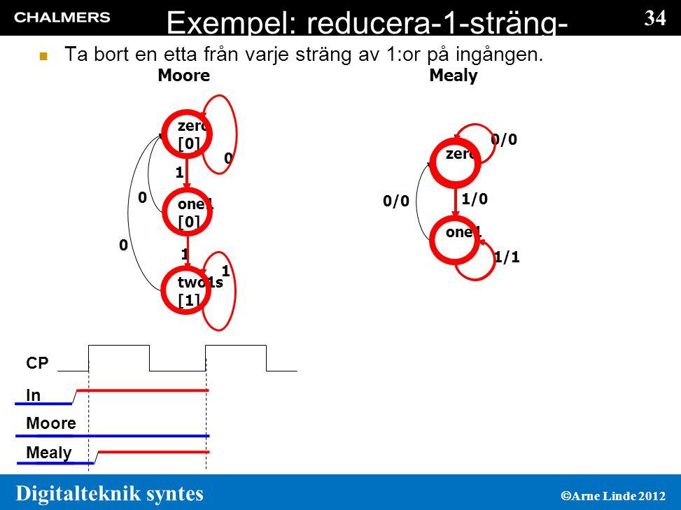 Exempel: reducera-1-sträng-med-1