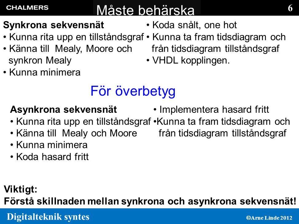 Måste behärska För överbetyg Synkrona sekvensnät Koda snålt, one hot