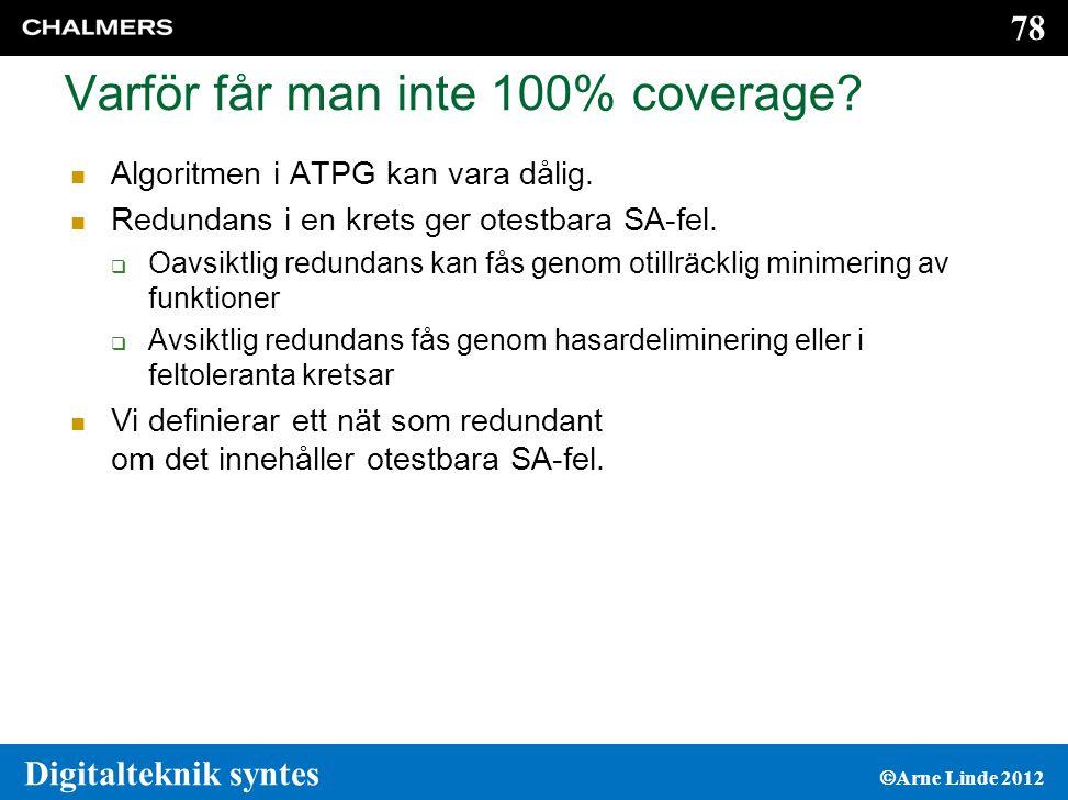 Varför får man inte 100% coverage