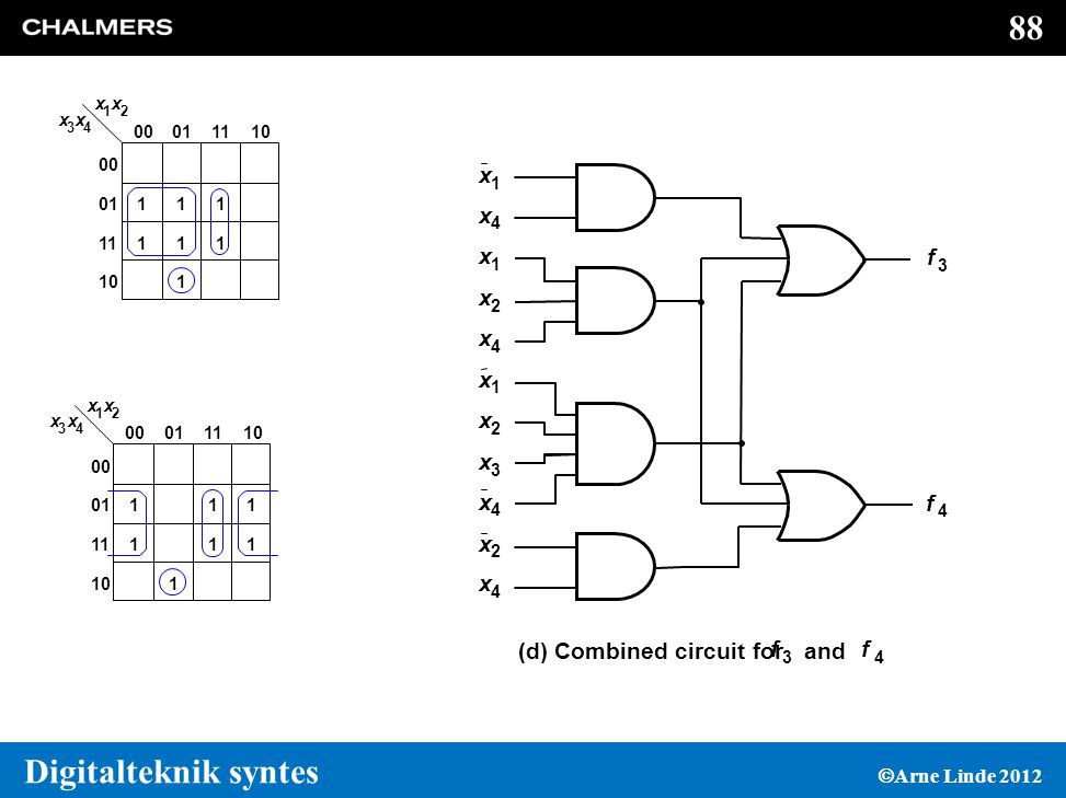 (d) Combined circuit for and