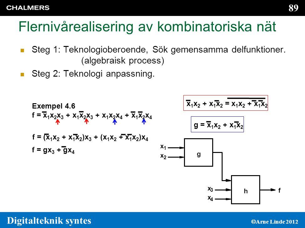 Flernivårealisering av kombinatoriska nät