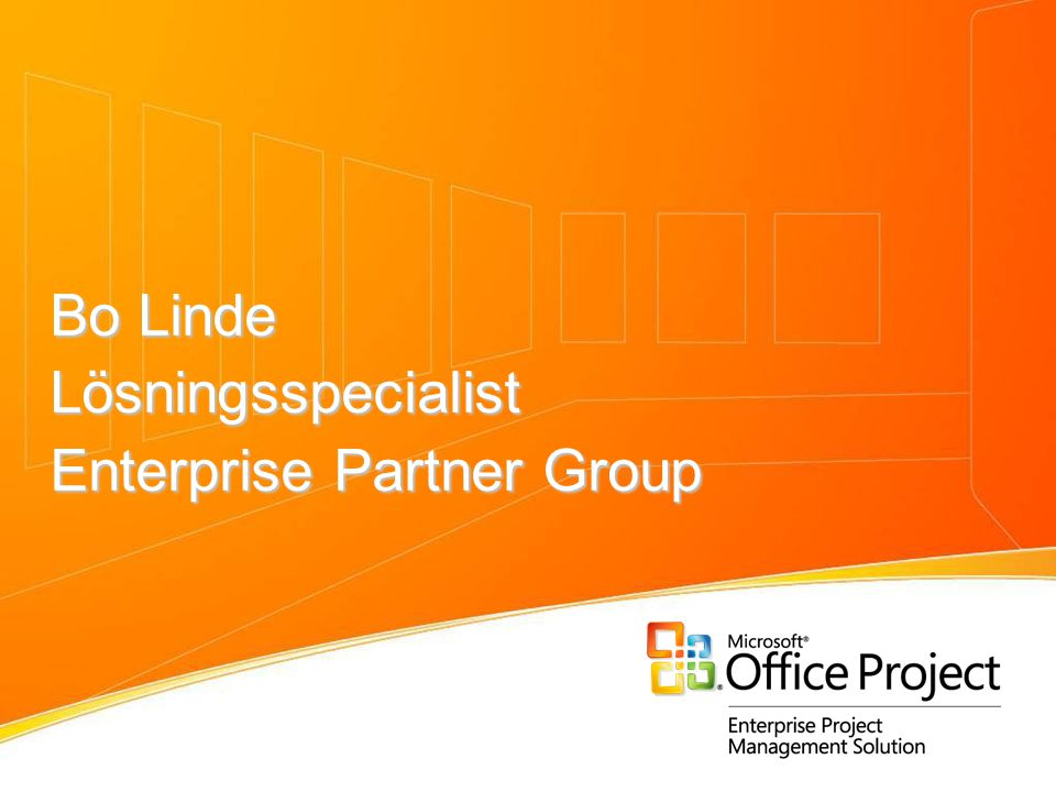Bo Linde Lösningsspecialist Enterprise Partner Group