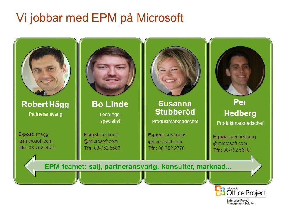 Vi jobbar med EPM på Microsoft