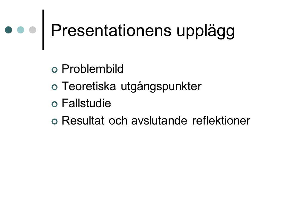 Presentationens upplägg