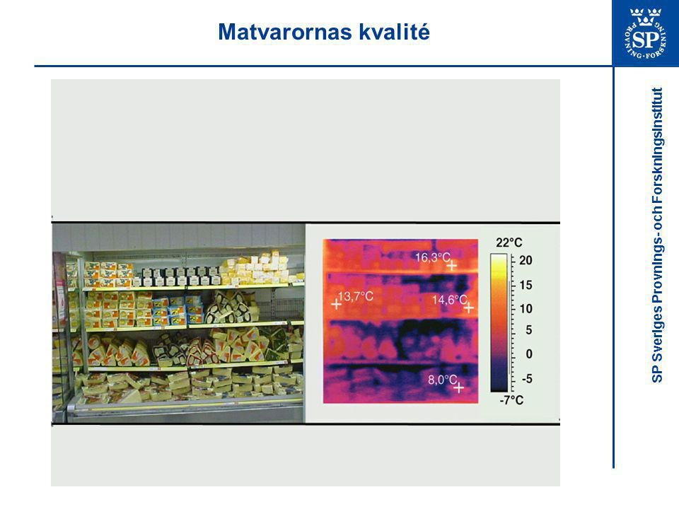Matvarornas kvalité Investigations of the temperature quality of chilled foods have shown that display cabinets are a weak link inthe chill chain.