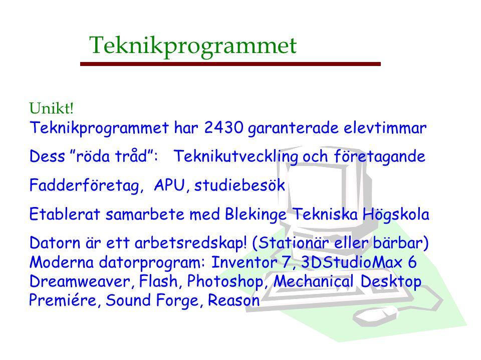 Teknikprogrammet Unikt!