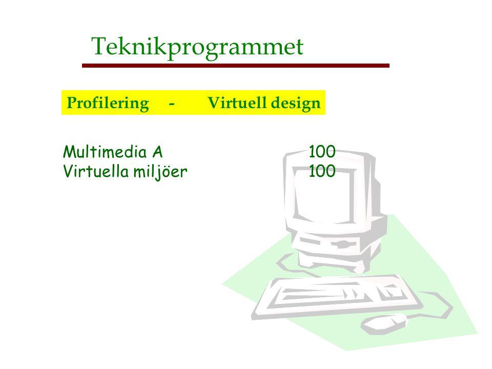 Teknikprogrammet Profilering - Virtuell design Multimedia A 100