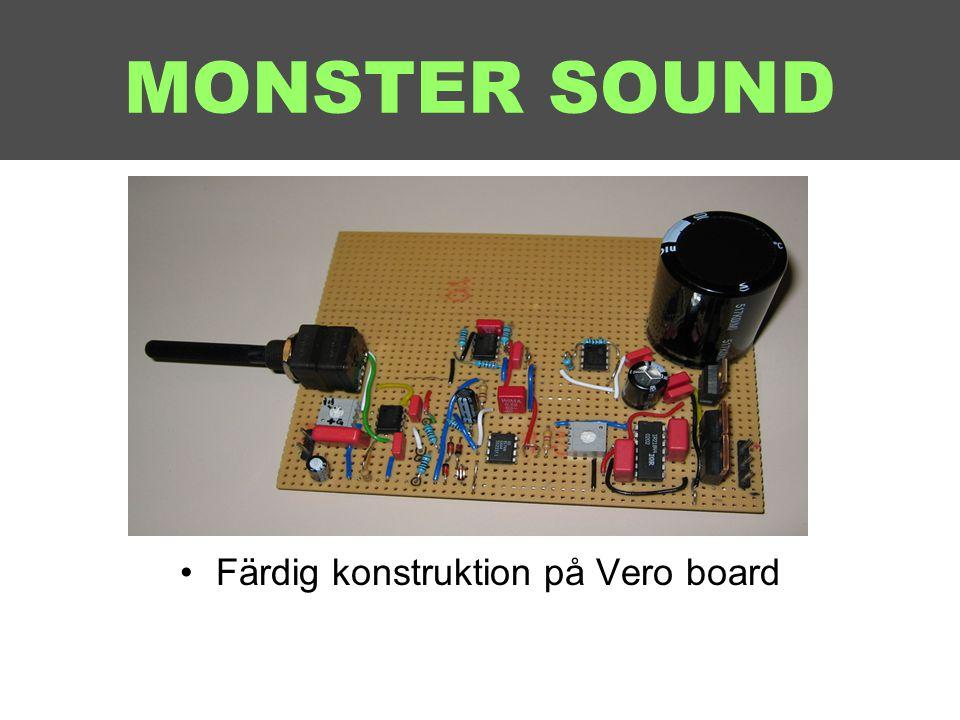 Färdig konstruktion på Vero board