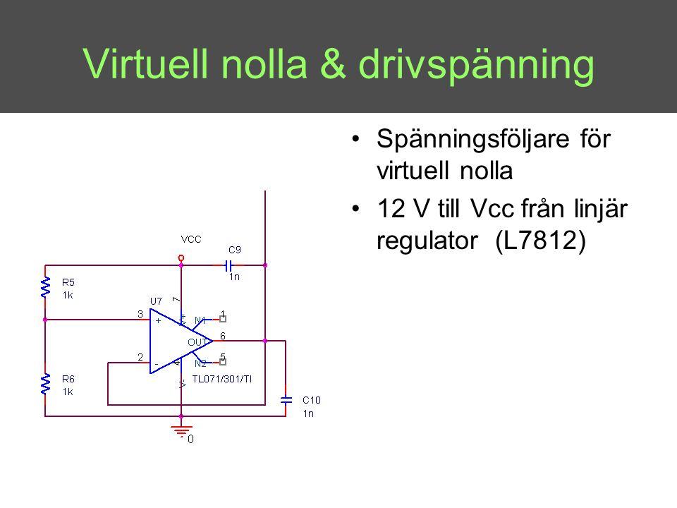 Virtuell nolla & drivspänning