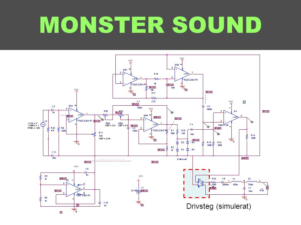 MONSTER SOUND Drivsteg (simulerat)